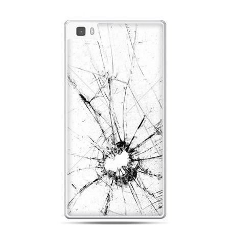 Huawei P8 Lite etui rozbita szybka