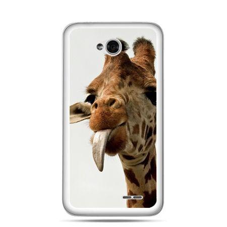 Etui na LG L70 żyrafa z językiem