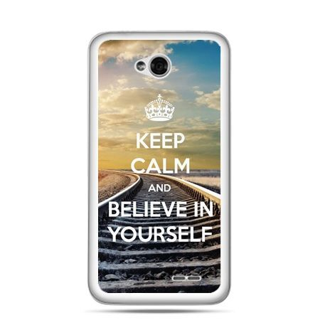 Etui na LG L70 Keep Calm and Believe in Yourself