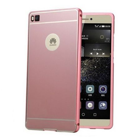Huawei P8  Mirror bumper case (Rose Gold) - Różowy
