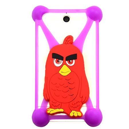 Gumowe etui na telefon z kolorową postacią - czerwony ptaszek.
