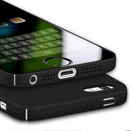 Matowe Etui na telefon iPhone SE Slim MattE - czarny.