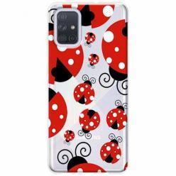 Etui na Samsung Galaxy A51 - Czerwone biedronki.