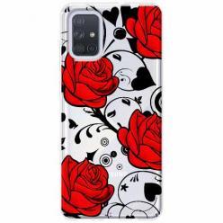 Etui na Samsung Galaxy A51 - Czerwone róże.