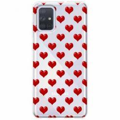 Etui na Samsung Galaxy A51 - Czerwone serduszka.