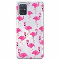 Etui na Samsung Galaxy A51 - Różowe flamingi.