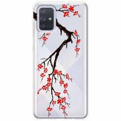 Etui na Samsung Galaxy A71 - Krzew kwitnącej wiśni.