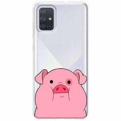 Etui na Samsung Galaxy A71 - Słodka różowa świnka.
