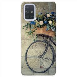 Etui na Samsung Galaxy A71 - Rower z kwiatami