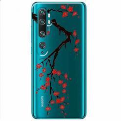 Etui na Xiaomi Mi Note 10 - Krzew kwitnącej wiśni.