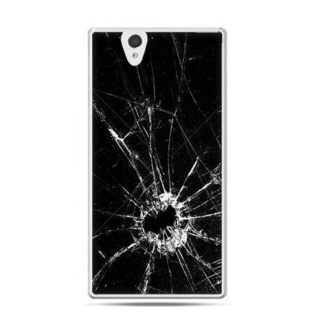 Etui na Sony Xperia Z rozbita szyba