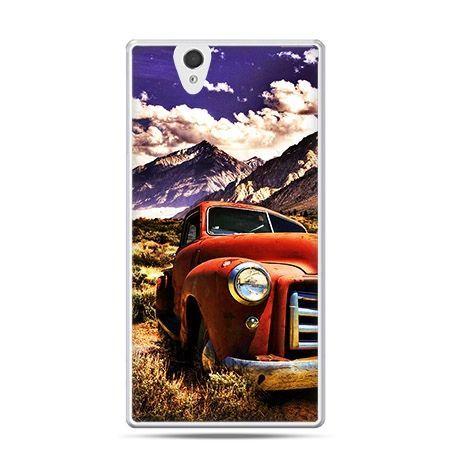 Etui na Sony Xperia Z samochód pick up retro