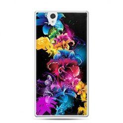 Etui na Sony Xperia Z kolorowe kwiaty