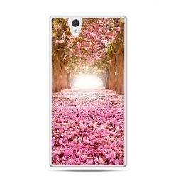Etui na Sony Xperia Z różowy park
