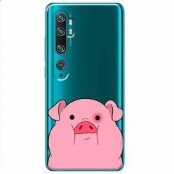 Etui na Xiaomi Mi Note 10 Pro - Słodka różowa świnka.