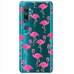 Etui na Xiaomi Mi Note 10 Pro - Różowe flamingi.