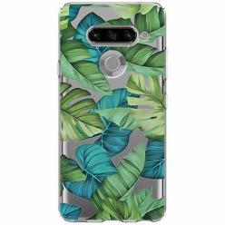 Etui na LG K50s - Egzotyczne liście