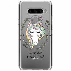 Etui na LG K50s - Dream unicorn - Jednorożec.