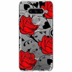 Etui na LG K50s - Czerwone róże.