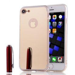 iPhone SE 2020 mirror - lustro silikonowe etui lustrzane TPU - złoty.