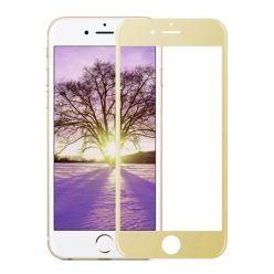 Hartowane szkło na cały ekran 3d iPhone SE 2020 - złoty.
