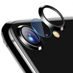 iPhone SE 2020 Hartowane szkło na Tylny aparat z ramką Alu