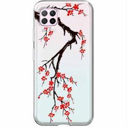 Etui na Huawei P40 Lite - Krzew kwitnącej wiśni.