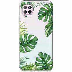 Etui na Huawei P40 Lite - Zielone liście palmowca