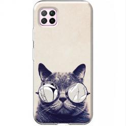 Etui na Huawei P40 Lite - Kot w okularach