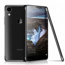 Etui na iPhone XR - platynowane SLIM - Czarny