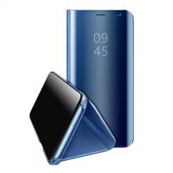 Etui na Huawei Y5P Flip Clear View z klapką - Niebieski.