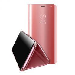 Etui na Huawei Y5P Flip Clear View z klapką - Różowy.