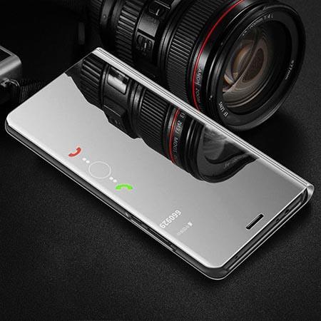 Etui na Galaxy S6 Edge Flip Clear View z klapką - srebrny.