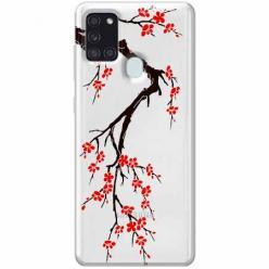 Etui na Samsung Galaxy A21s - Krzew kwitnącej wiśni.