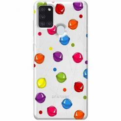 Etui na Samsung Galaxy A21s - Kolorowe lizaki.
