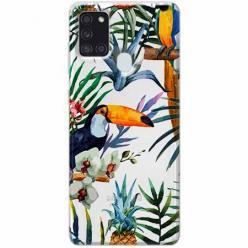 Etui na Samsung Galaxy A21s - Egzotyczne tukany.