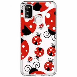Etui na Samsung Galaxy M21 - Czerwone wesołe biedronki.