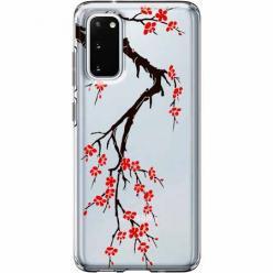 Etui na Samsung Galaxy S20 - Krzew kwitnącej wiśni.