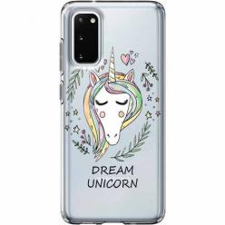 Etui na Samsung Galaxy S20 - Dream unicorn - Jednorożec.