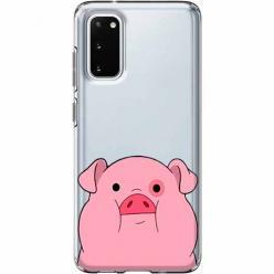 Etui na Samsung Galaxy S20 - Słodka różowa świnka.