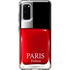 Etui na Samsung Galaxy S20 - Czerwony lakier do paznokci