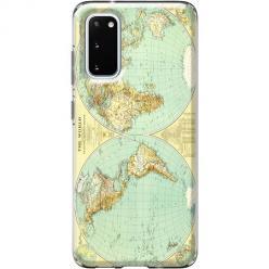 Etui na Samsung Galaxy S20 - Mapa świata
