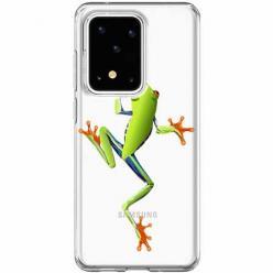 Etui na Samsung Galaxy S20 Ultra - Zielona żabka.