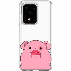 Etui na Samsung Galaxy S20 Ultra - Słodka różowa świnka.