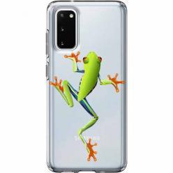 Etui na Samsung Galaxy S20 Plus - Zielona żabka.