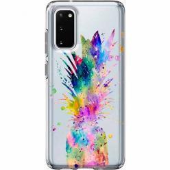 Etui na Samsung Galaxy S20 Plus - Watercolor ananasowa eksplozja.