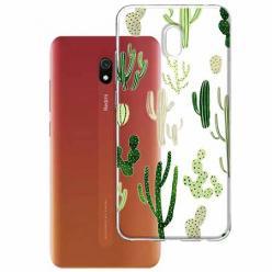 Etui na Xiaomi Redmi 8A - Kaktusowy ogród.