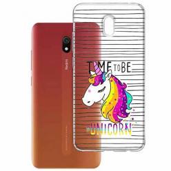 Etui na Xiaomi Redmi 8A - Time to be unicorn - Jednorożec.