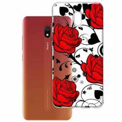 Etui na Xiaomi Redmi 8A - Czerwone róże.