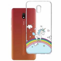Etui na Xiaomi Redmi 8A - Jednorożec na tęczy.